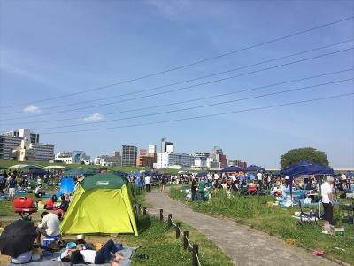 淀川河川公園西中島地区バーベキュー