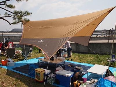 甲子園浜海浜公園でのバーベキュー