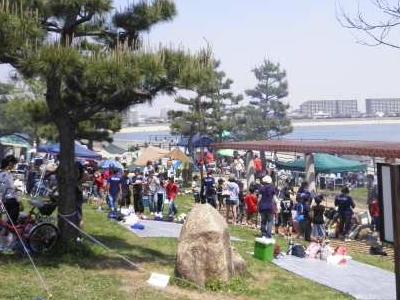 甲子園浜海浜公園のバーベキュー場