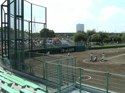 久宝寺中地区の硬式野球場