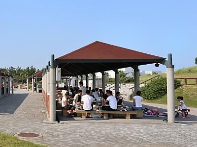 二色の浜公園海浜緑地でBBQ