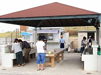 二色の浜公園海浜緑地のBBQ場